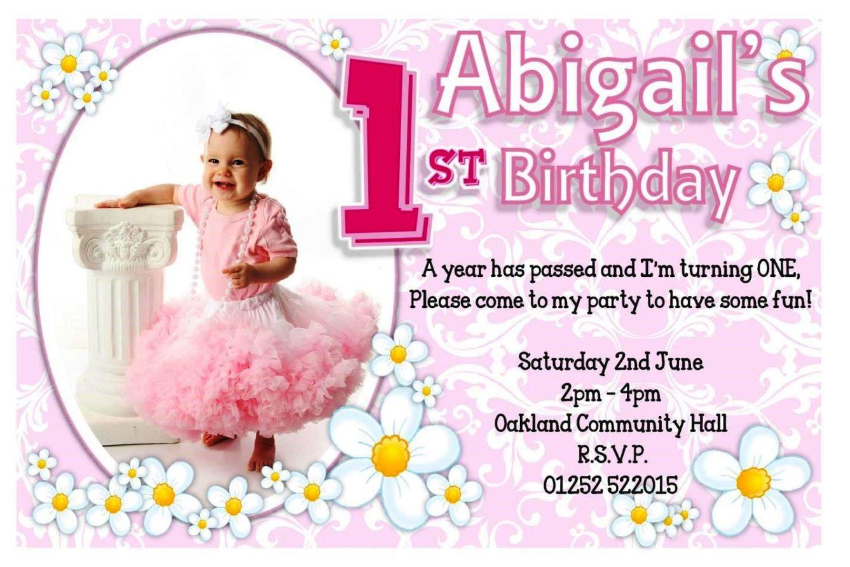 1St Birthday Party Invitations Templates Free - SampleTemplatess ...