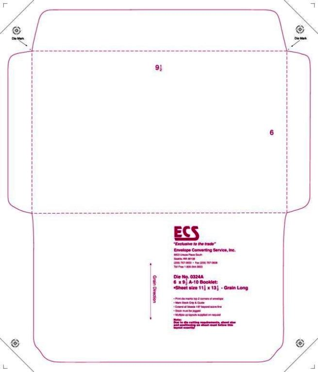 Luxury Booklet Envelope Template Pattern Professional Resume - 10x13 envelope template