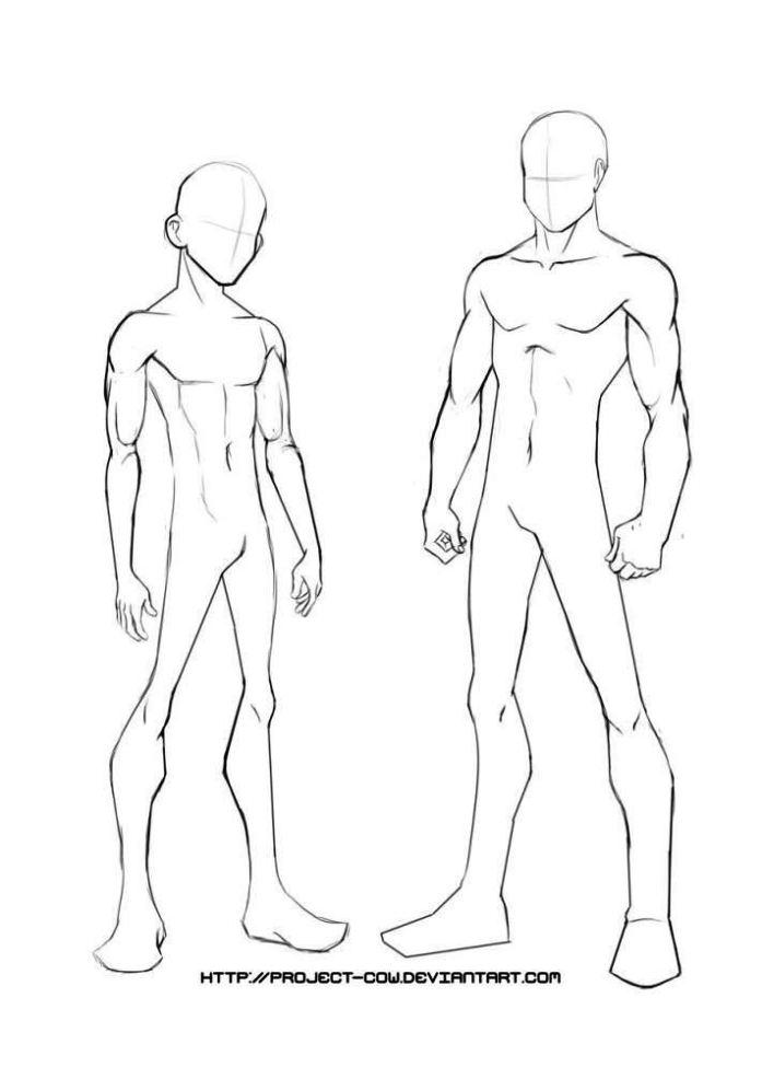Anime Body Template Male - SampleTemplatess - SampleTemplatess