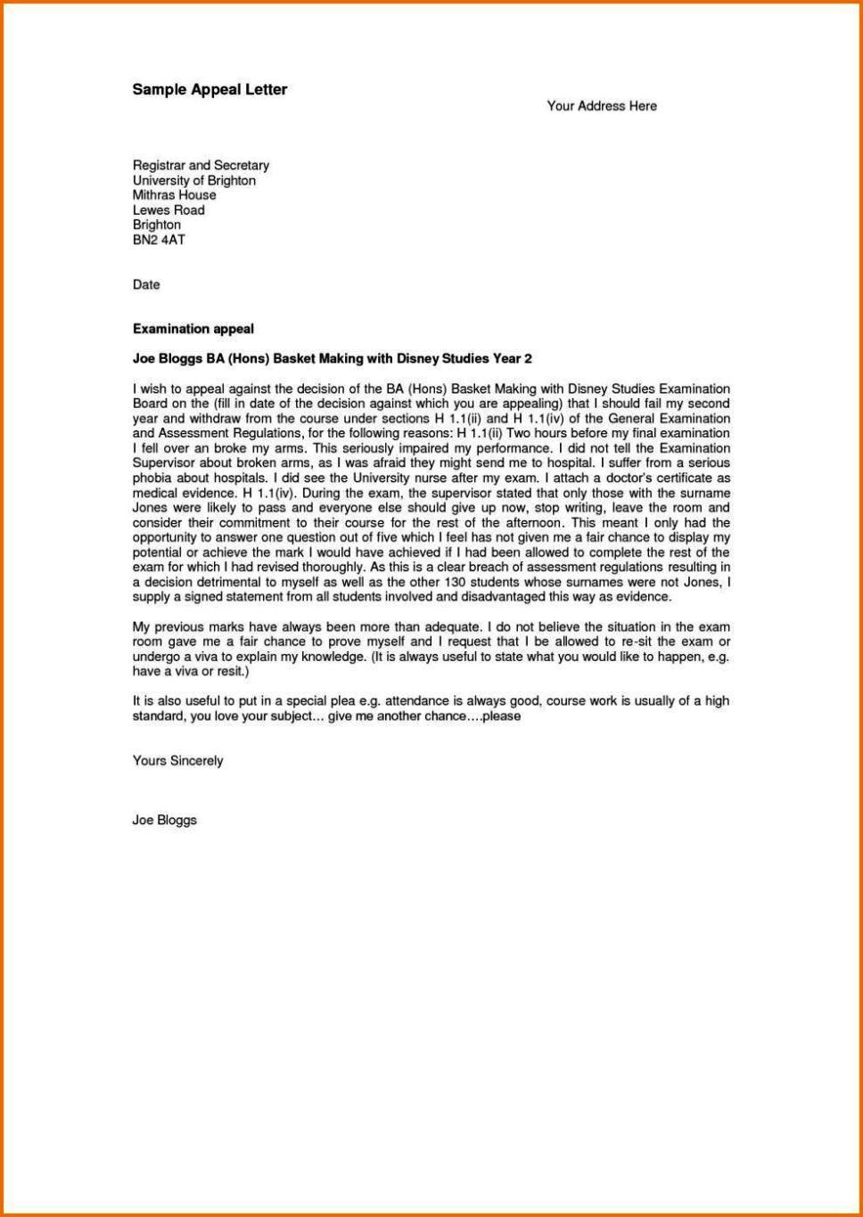 attendance appeal letter - sampletemplatess