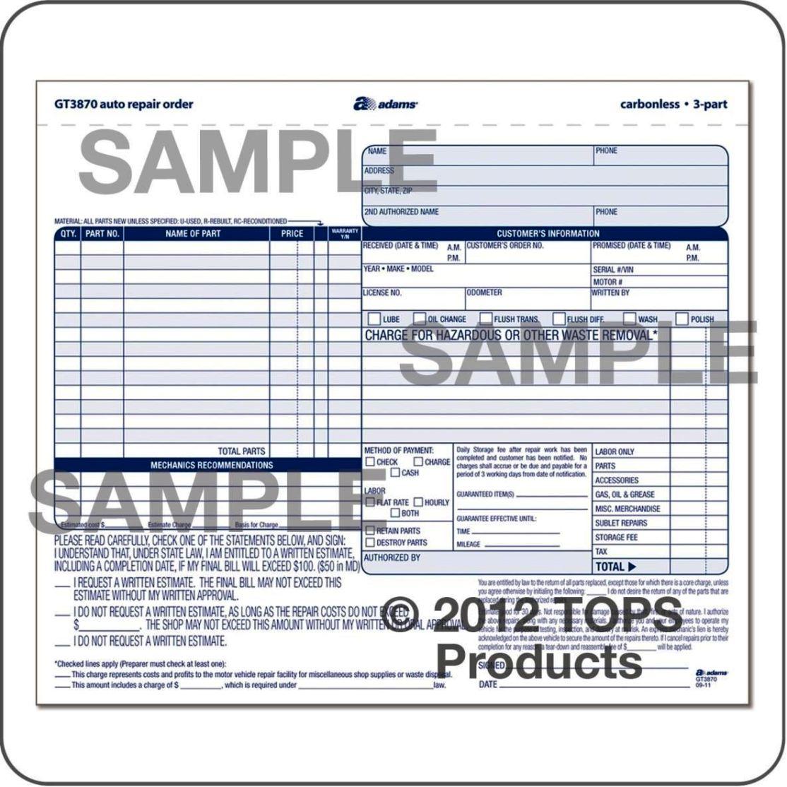 auto work order template sampletemplatess sampletemplatess. Black Bedroom Furniture Sets. Home Design Ideas