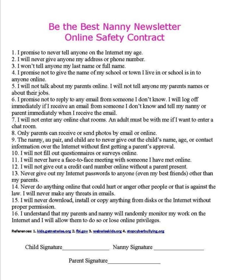 Babysitting Contract Template Image Collections  Template Design Ideas
