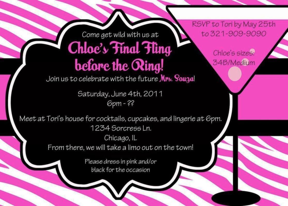 Bachelor Party Invitation Templates - SampleTemplatess ...