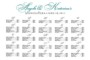 Church Seating Chart Template