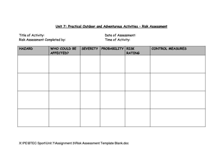 Classroom risk assessment template sampletemplatess for Class assessment template
