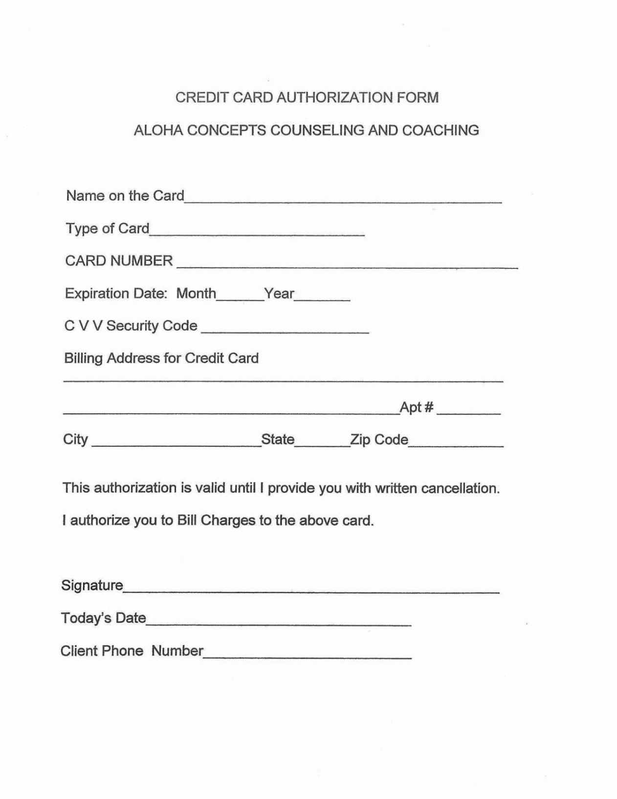 Counseling Release Of Information Form Template