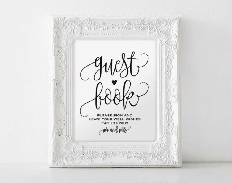 Diy Wedding Guest Book Template  Sampletemplatess  Sampletemplatess