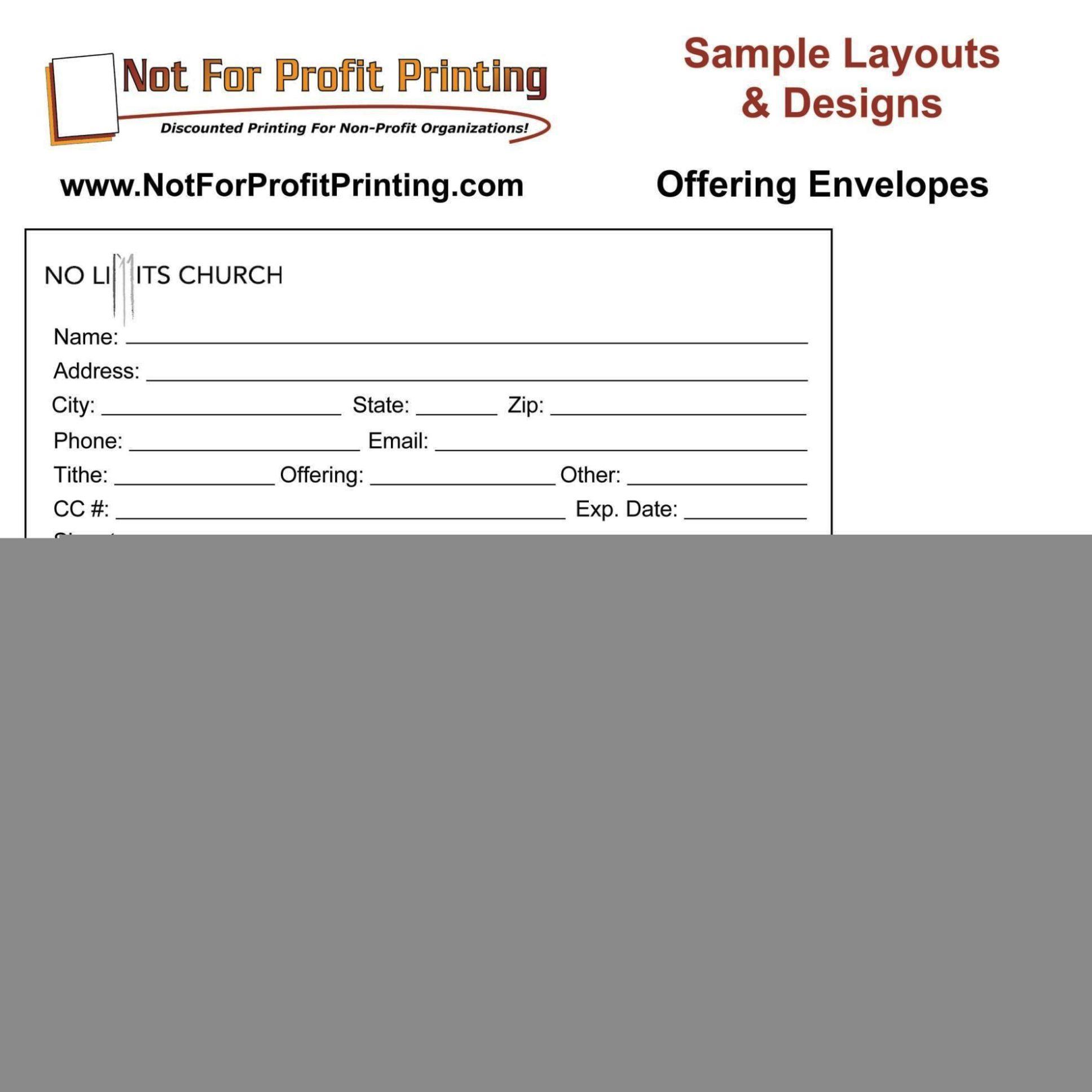 Donation Envelope Template Sampletemplatess