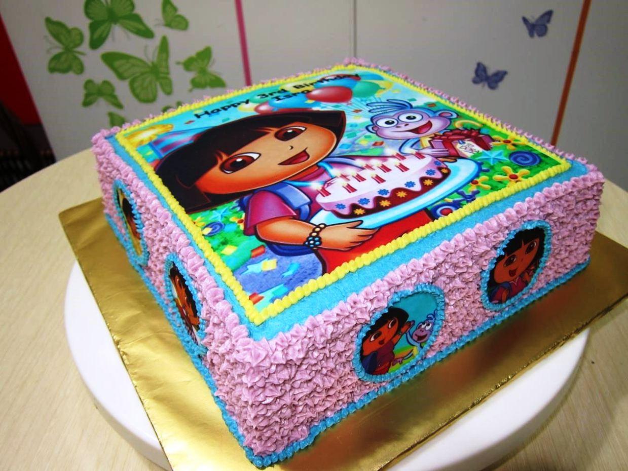 Dora The Explorer Cake Template - SampleTemplatess - SampleTemplatess