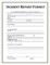 Environmental Incident Report Form Template