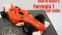 F1 Car Cake Template