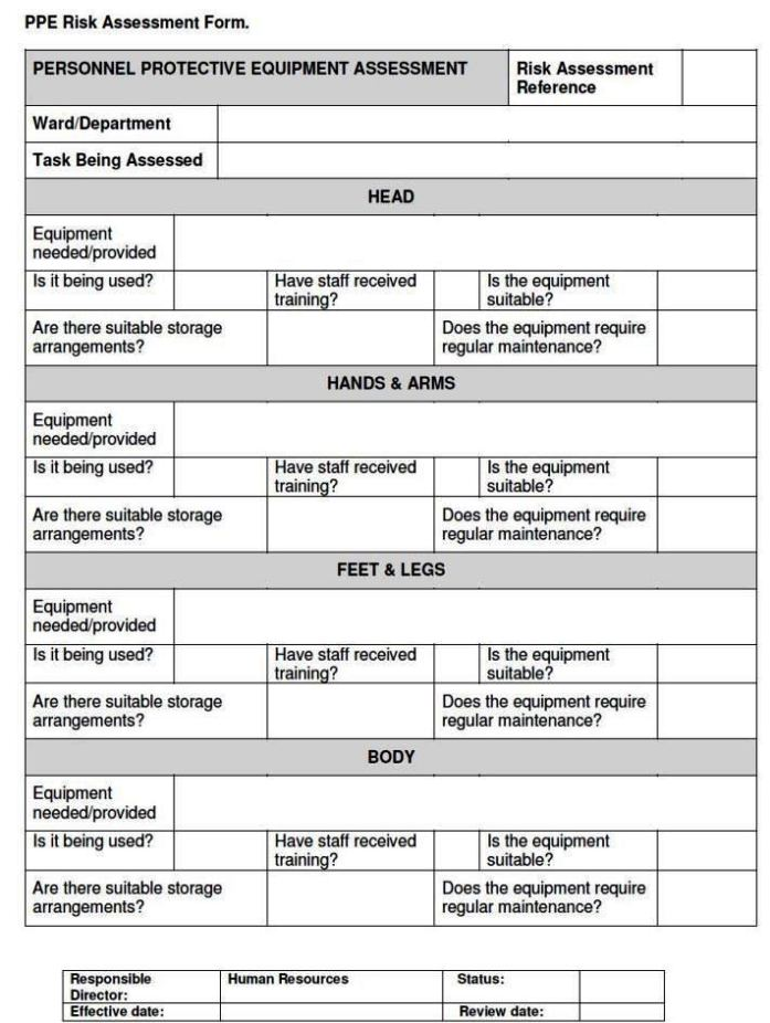fire safety risk assessment template