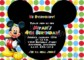 Free Mickey Mouse Birthday Invitation Templates