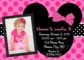 Free Minnie Mouse 1St Birthday Invitations Templates
