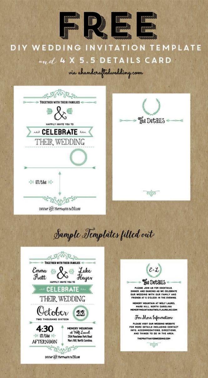 Free Printable Online Wedding Invitations Templates | SampleTemplatess