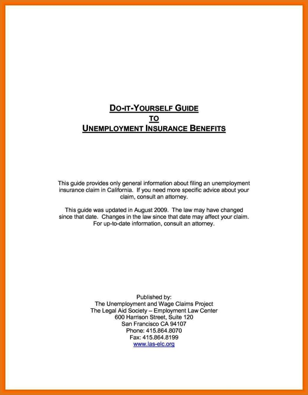 Free Unemployment Appeal Letter Template