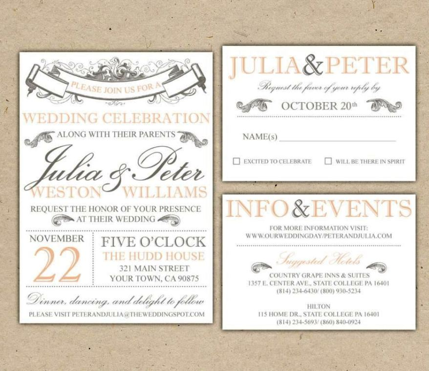 wedding invitation suite template - 28 images - hip wedding ...