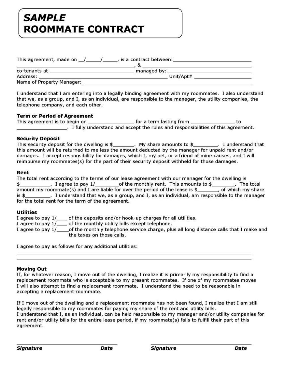 funny contracts and agreements