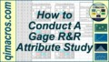 Gage R&R Excel Template