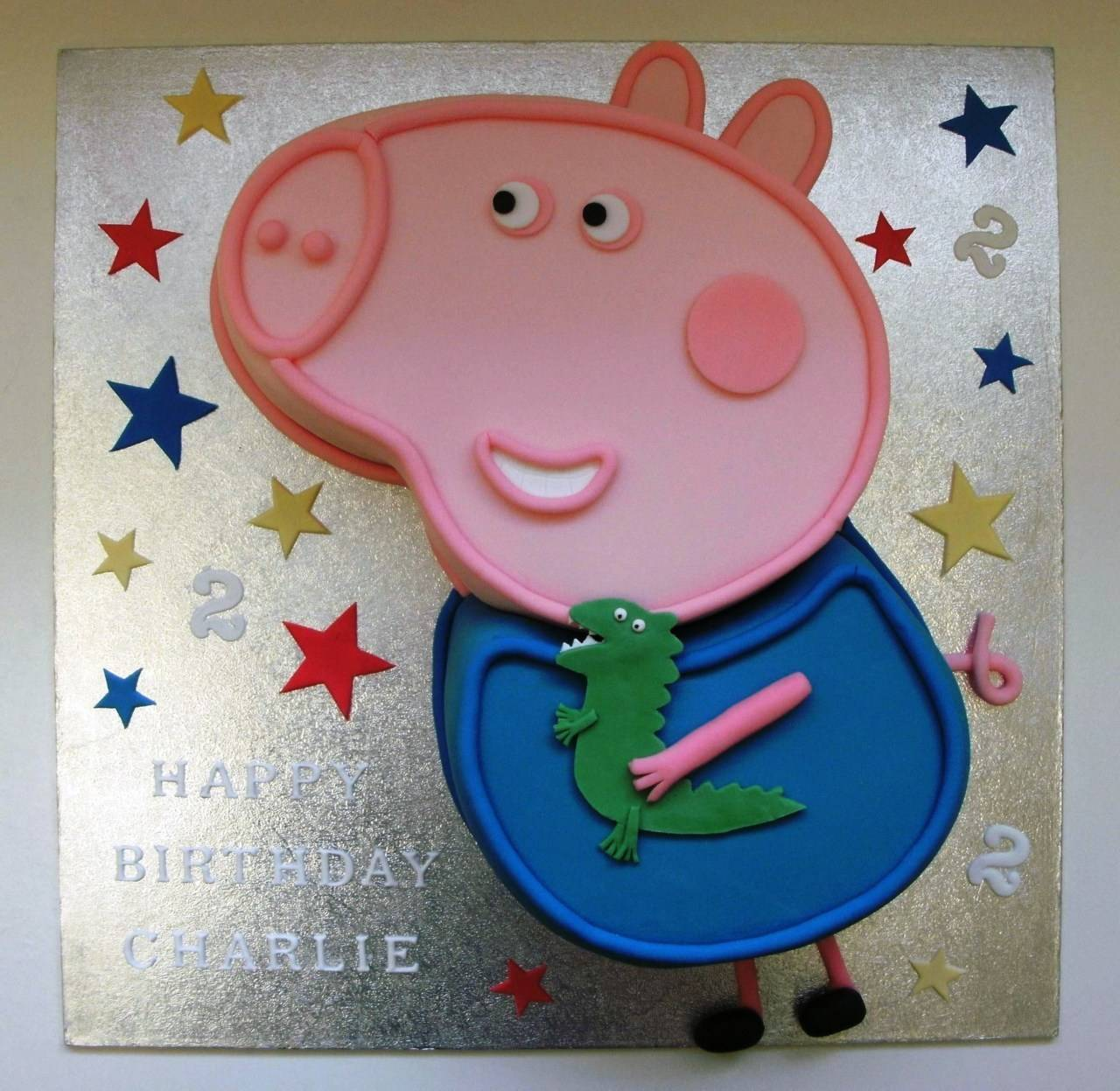 George peppa pig cake template sampletemplatess for Peppa pig cake template free