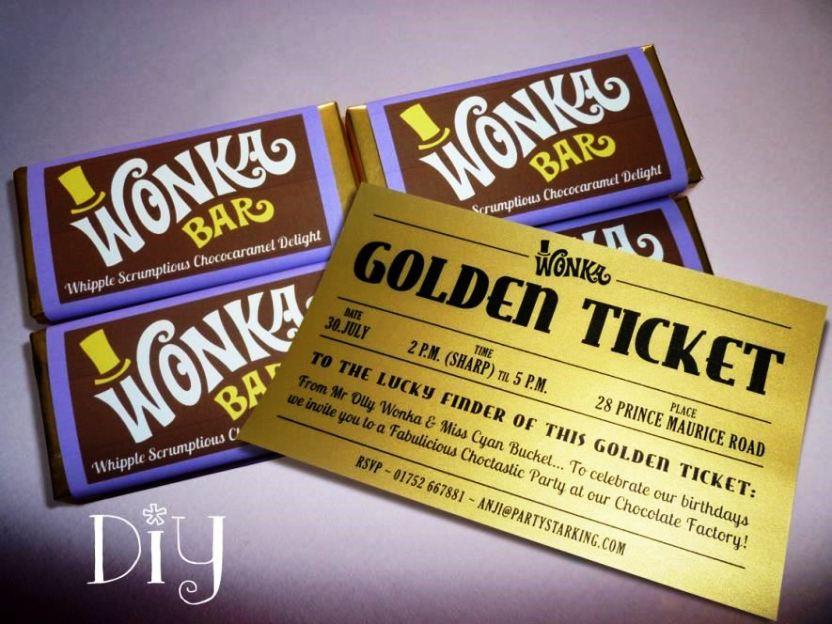 Golden Ticket Party Invitation Template Free - SampleTemplatess ...