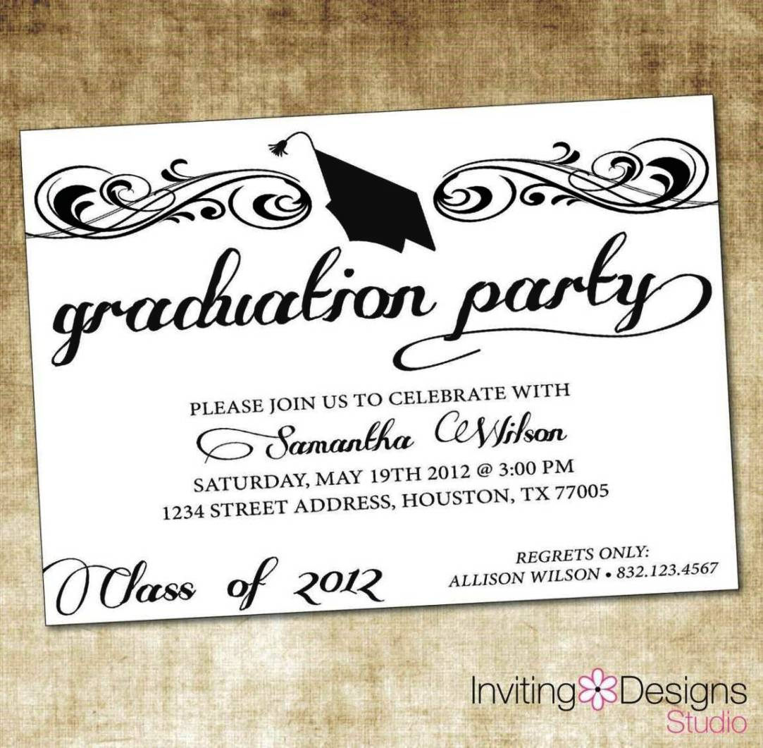 Graduation Ceremony Invitation Templates
