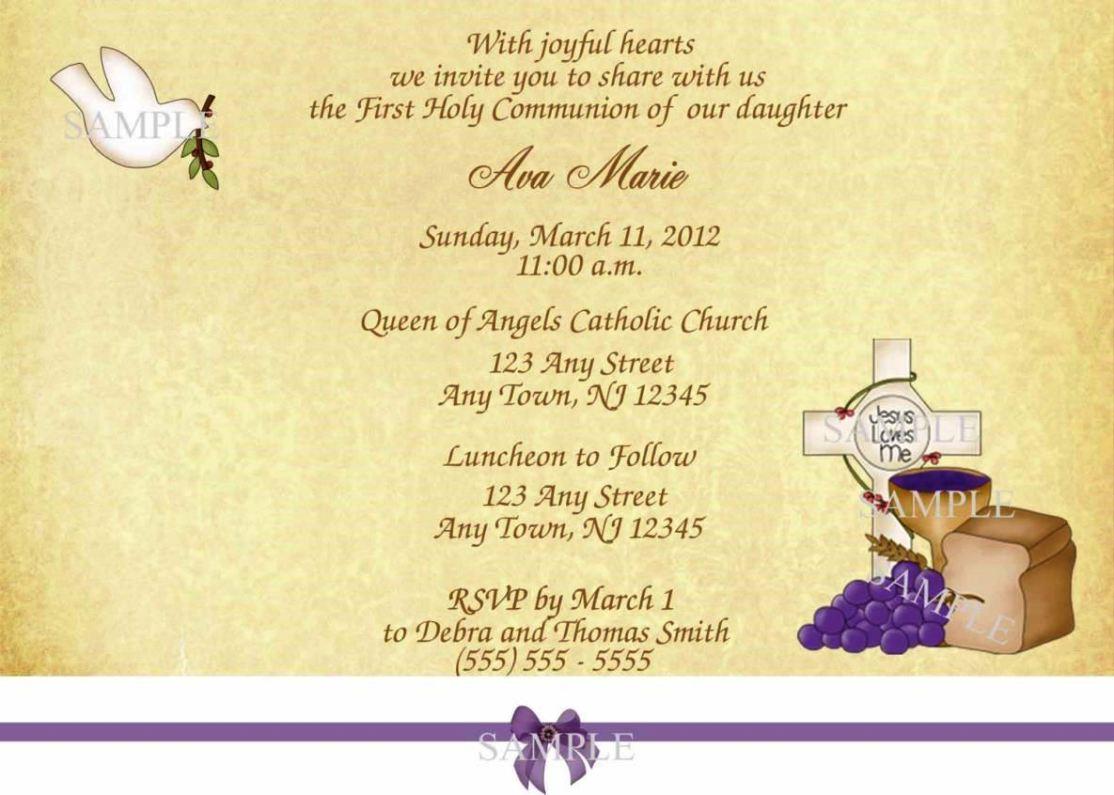 holy communion invitation templates - sampletemplatess