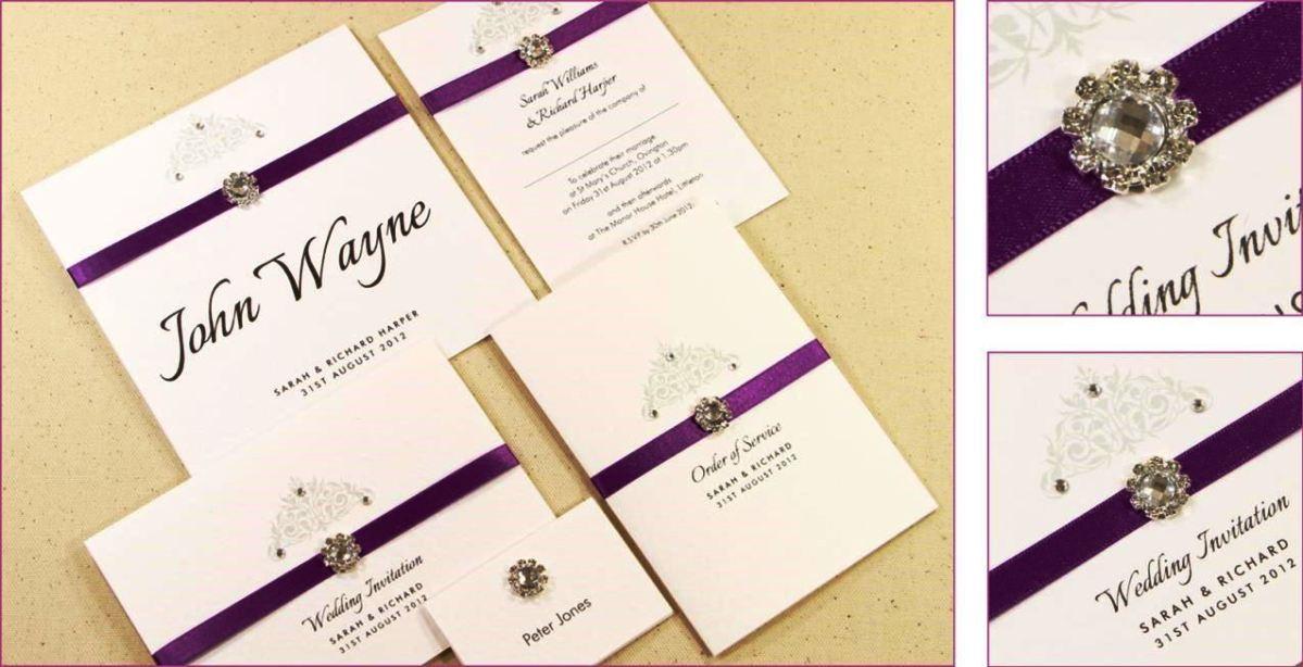 Charmant Homemade Wedding Invitations Templates