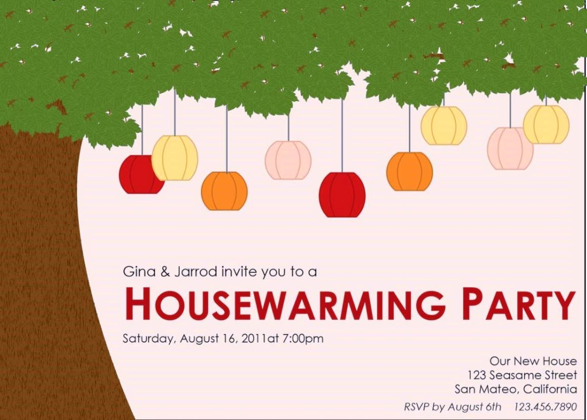 Cute House Party Invitation Templates Pictures Inspiration ...