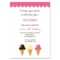 Ice Cream Social Invitation Template