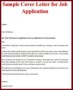 Job Application Letter Templates