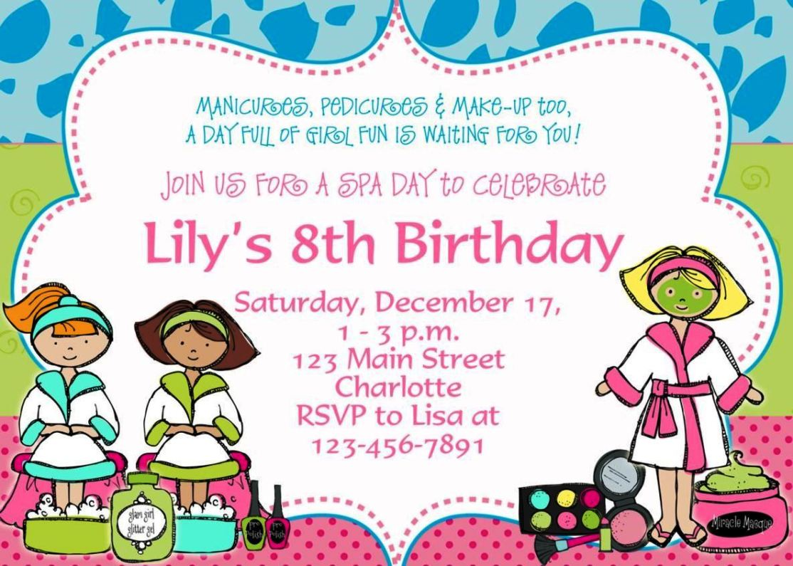 Kids Birthday Party Invitation Template Free | SampleTemplatess