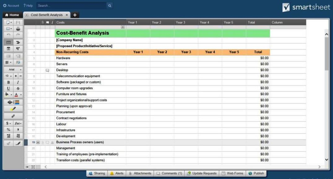 Gant chart template excel