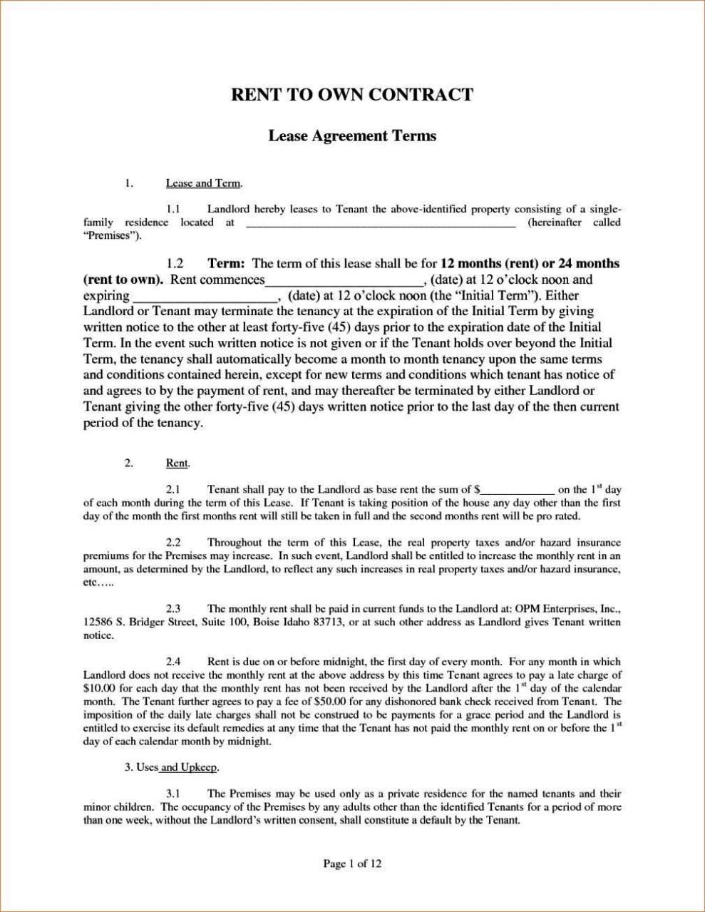 Lovely Purchasing Contract Template Pictures Inspiration - Entry ...