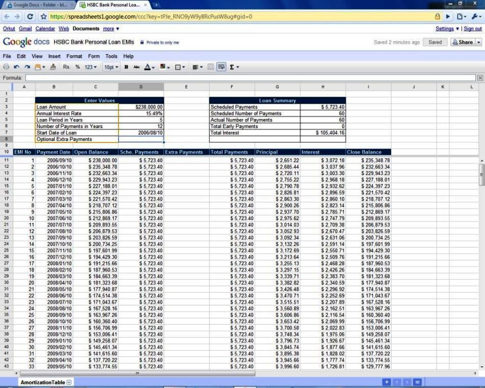 calculate mortgage repayments excel