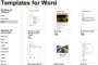Microsoft Office Address Book Template