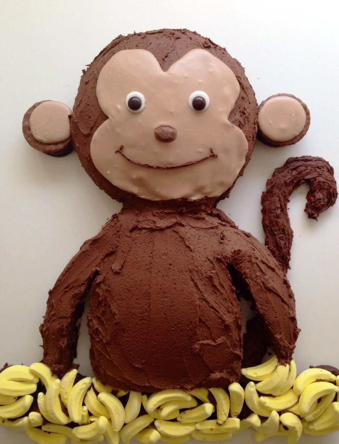 Monkey birthday cake template sampletemplatess for Monkey birthday cake template