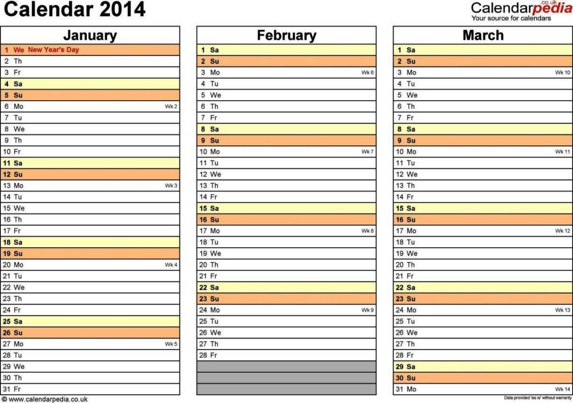 monthly calendar excel template 2014 sampletemplatess