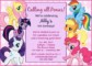 My Little Pony Invitation Template