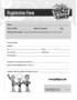 Nursery Registration Form Template