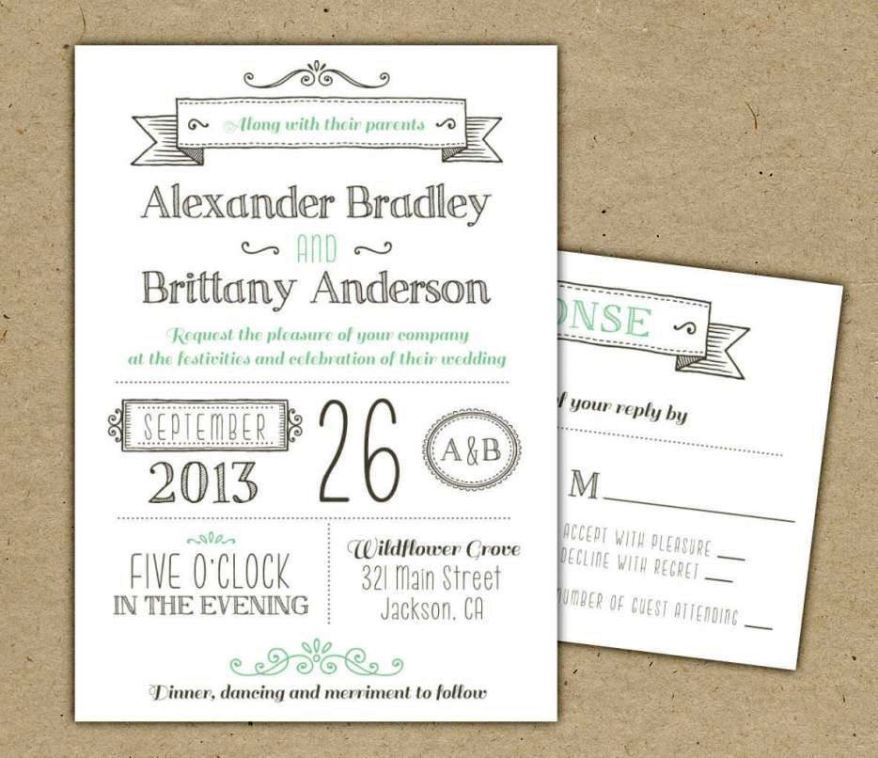 Online Wedding Invitation Templates Free Download - SampleTemplatess - SampleTemplatess