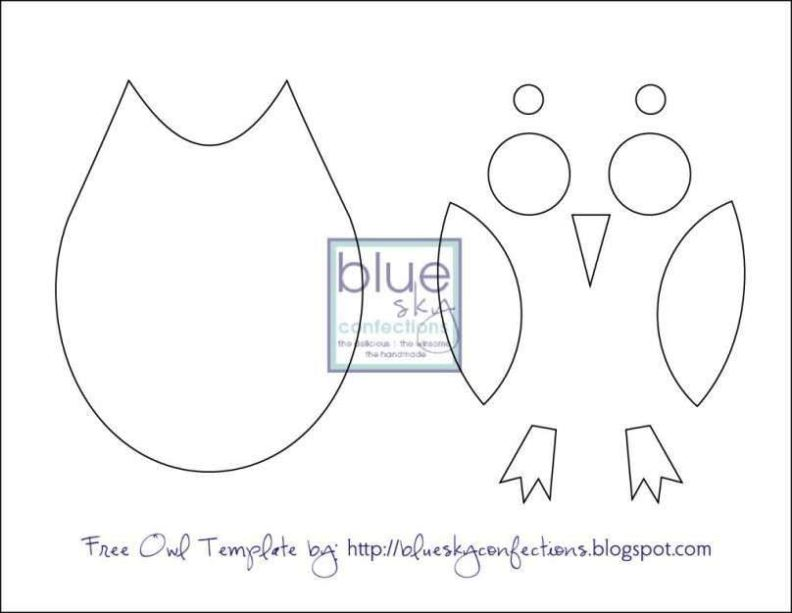 Owl Template For Cake Sampletemplatess Sampletemplatess