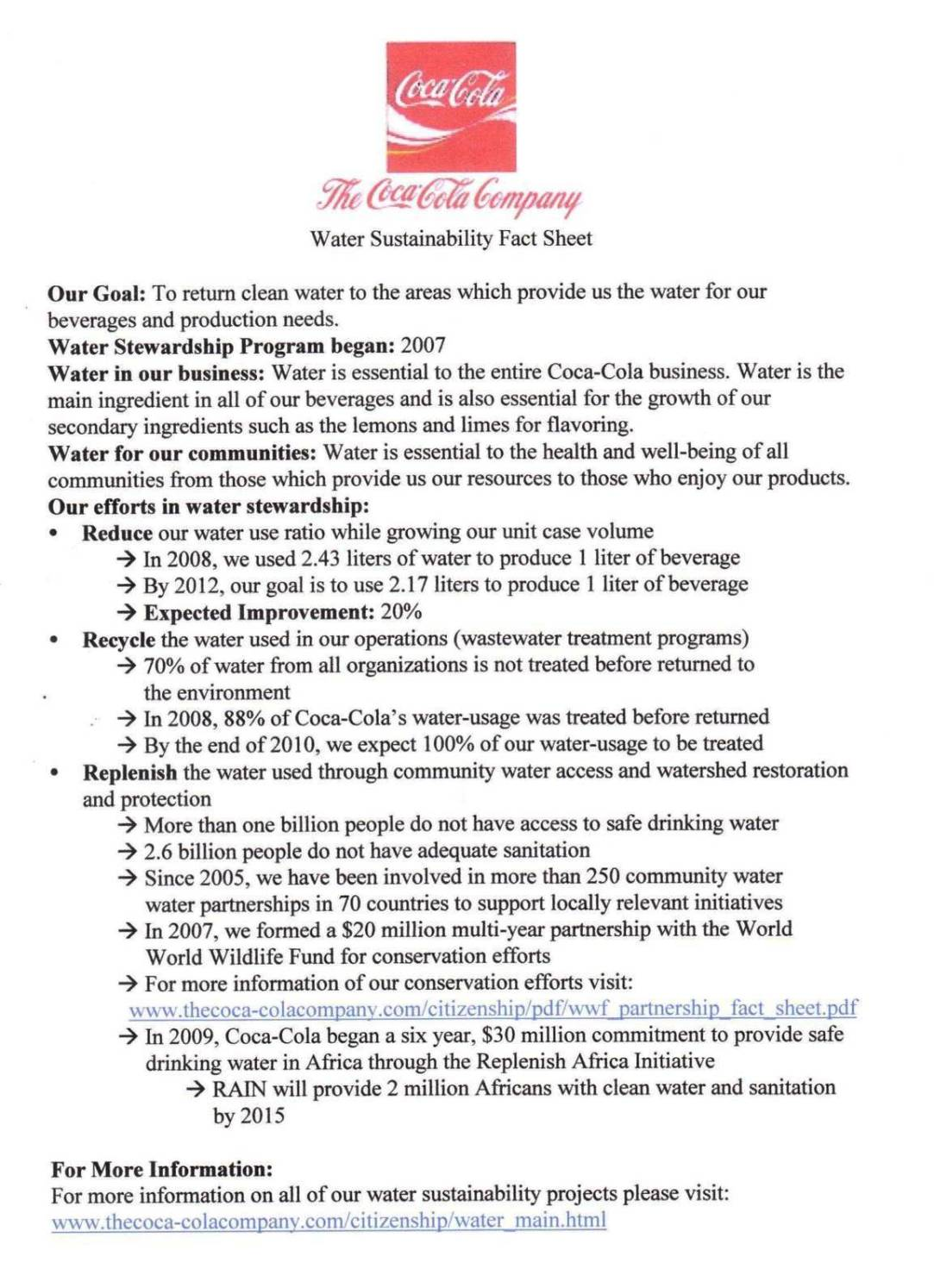 pr fact sheet