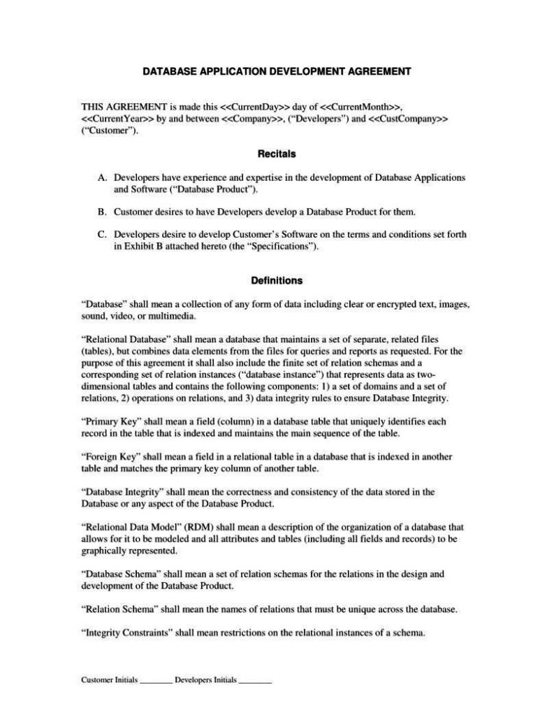 Product Development Agreement Template SampleTemplatess