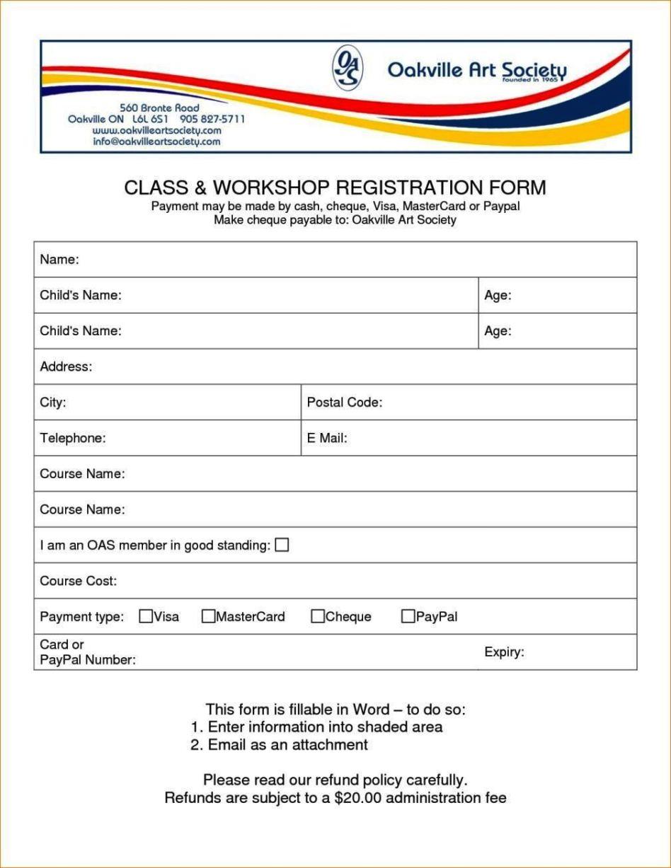 registration form template excel sampletemplatess sampletemplatess. Black Bedroom Furniture Sets. Home Design Ideas