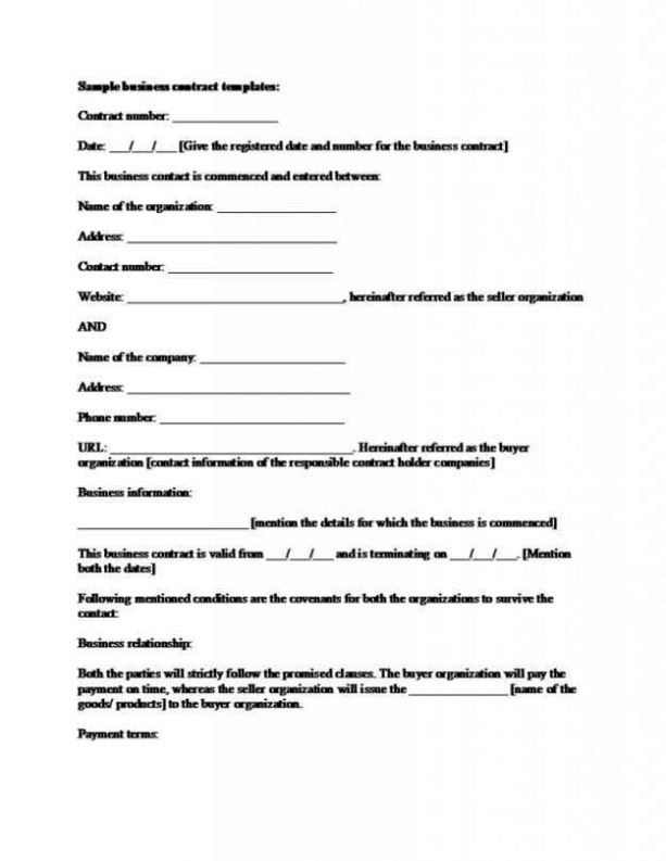 relationship contracts template