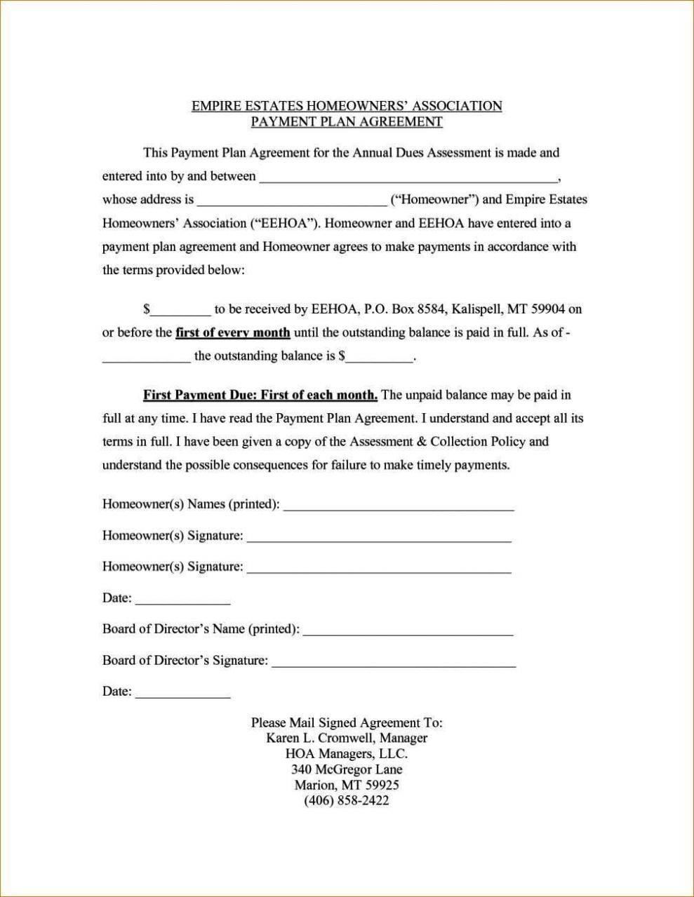 repayment agreement template