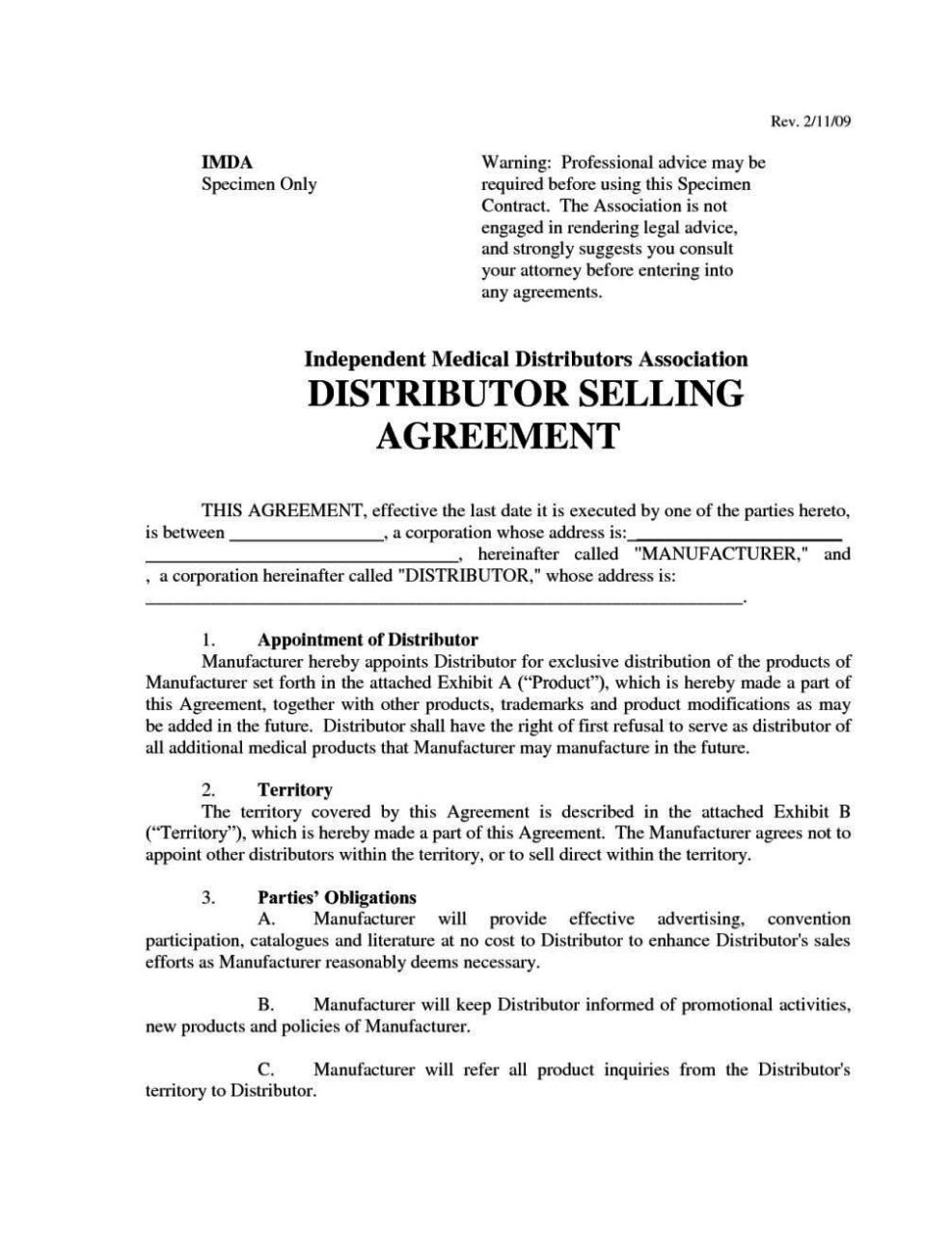 Sample Reseller Agreement Template Exclusive Reseller Agreement