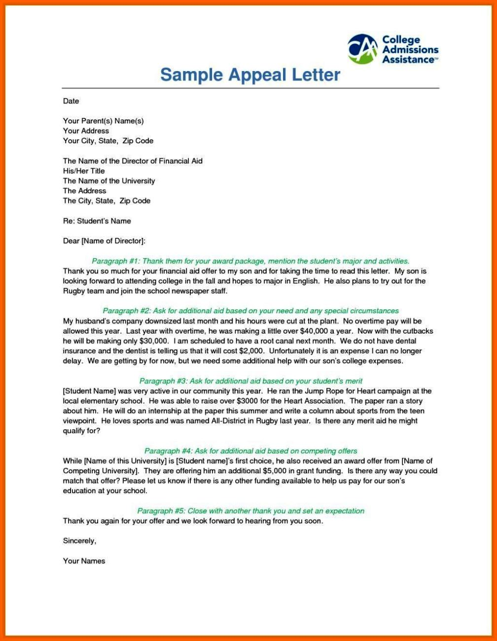 Sample appeal letter for financial aid reinstatement sample appeal letter for financial aid reinstatement thecheapjerseys Choice Image