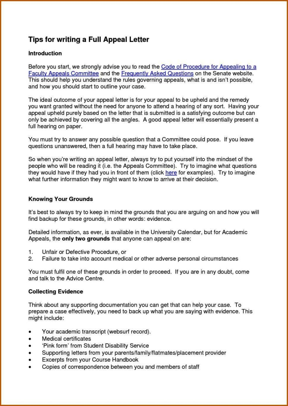 Secondary School Appeal Letter Examples